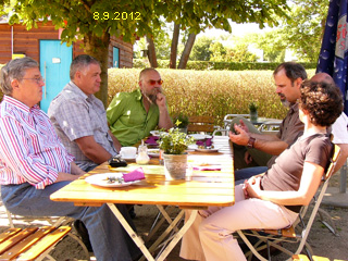 Pause beim Baubiologen-Workshop am 8.9.2012 in Fulda
